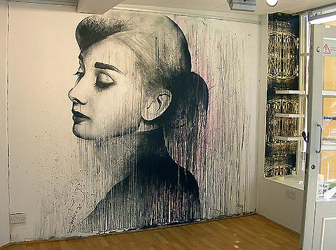 audrey hepburn wall painting choof 39 d